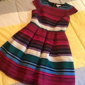 Ted Baker London Rozah Fit & Flare Striped Dress